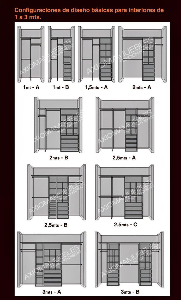 Placard Opciones de Medidas. Interior Espejo Axiomamuebles -