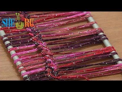 Hairpin Lace Crochet Asymmetrical Basic Braid Tutorial 5 Hairpin Strip. interessante