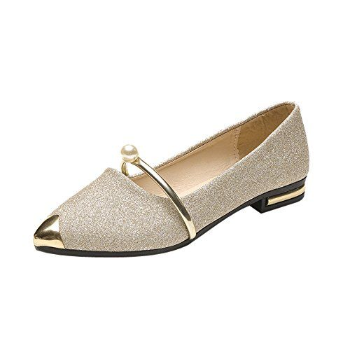 morecome 2018 New Spring Women Pointed Toe Ladise Shoes Casual Low Heel  Flat Shoes (5.5 62d02a5deb81