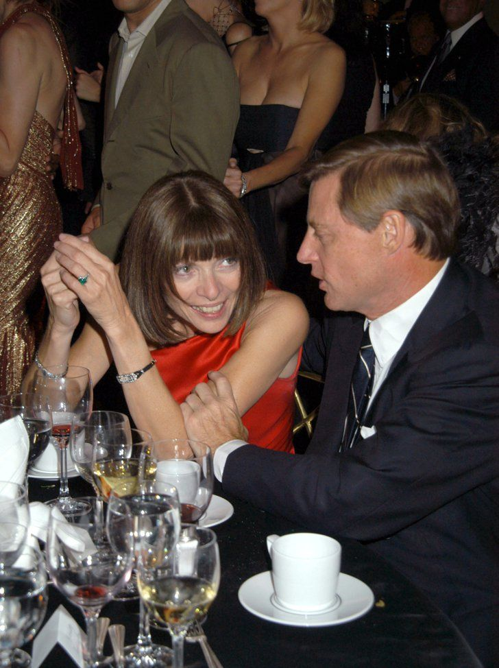 Pin for Later: Happy Birthday, Anna Wintour! A Smiling Shot For Every One of Her 65 Years 2002: New Yorkers For Children Gala Anna Wintour, Shelby Bryan