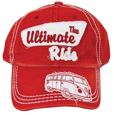 VW Kombi The Ultimate Ride Red Baseball Cap