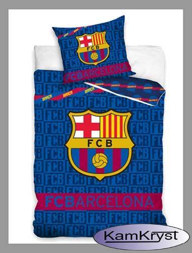 Kolejna nowość w barwach Barcelony - pościel bawełniana w rozmiarze 160x200 cm - 100% bawełna
