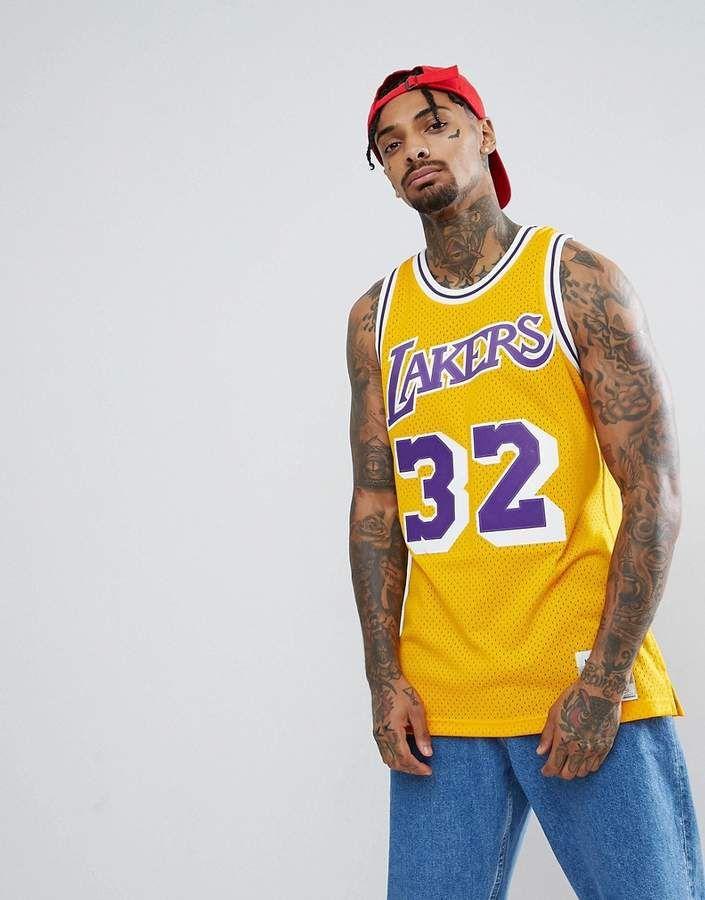 Mitchell & Ness NBA Lakers Magic Johnson Swingman Tank In Yellow ...