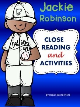 Jackie Robinson: This  product contains a close reading passage based on Jackie…