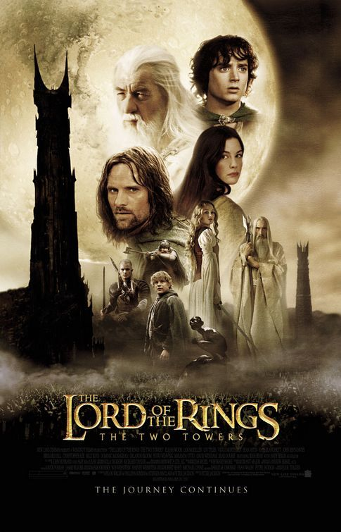 Lord of the Rings: Film, Movie Posters, The Lord, Peter Jackson, Books Jackets, Towers 2002, Favorite Movie, Lord Of The Rings, Dust Covers