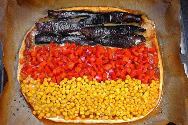 Deutschland-Pizza im Schwarz-Rot-Gold-Look