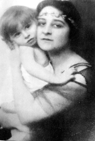 "Joanna ""Zizi"" Lambrino, 1st wife of King Carol II of Romania, with their son, Mircea.  Lambrino was forced to leave Romania after the birth of her son and the 2 settled in Paris.  During his reign Carol II recognized Mircea as a prince several times.  He was also recognized as a Prince of Hohenzollern by the Princely House of Hohenzollern-Sigmaringen, the House to which the Romanian Royal Family belonged."
