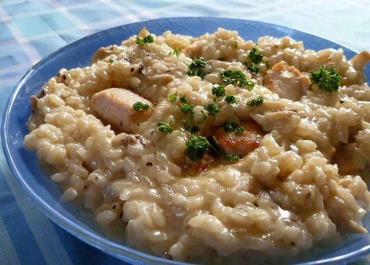 Risotto crémeux champignons-poulet | Roquette Rollmops