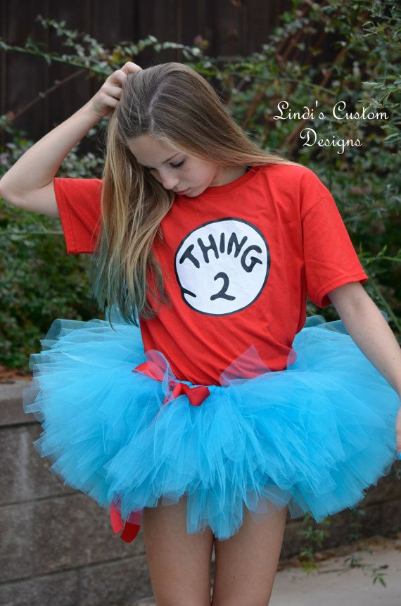 Oh dont you just love the COLOR!!! Our turquoise tulle tutu was a custom request for a Thing 1 Thing 2 Halloween costume so we decided to offer
