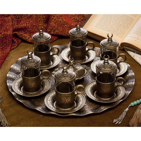 Hediyelik Antik Sarı 6'lı Ab-ı Hayat Çay Takımı : Hediyelik Çay Takımları - Duvar Saati | Masa Saati | Kol Saati | Fiyatları ve Modelleri