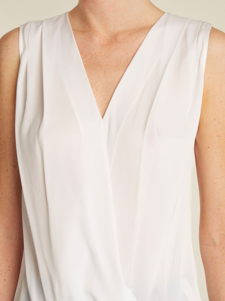 Draped silk-blend satin top | Carl Kapp | MATCHESFASHION.COM US