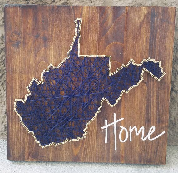 West Virginia string art home state sign by HeartStringsbyMeg