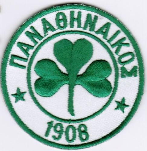 Panathinaikos FC Greek Football Soccer Patch Badge Embroidered Iron On Applique