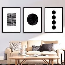 Scandinavian Circle And Lines Canvas Art Print Painting Poster Wall Pictures For Living Room Decor Home Decorative No Frame(China (Mainland))