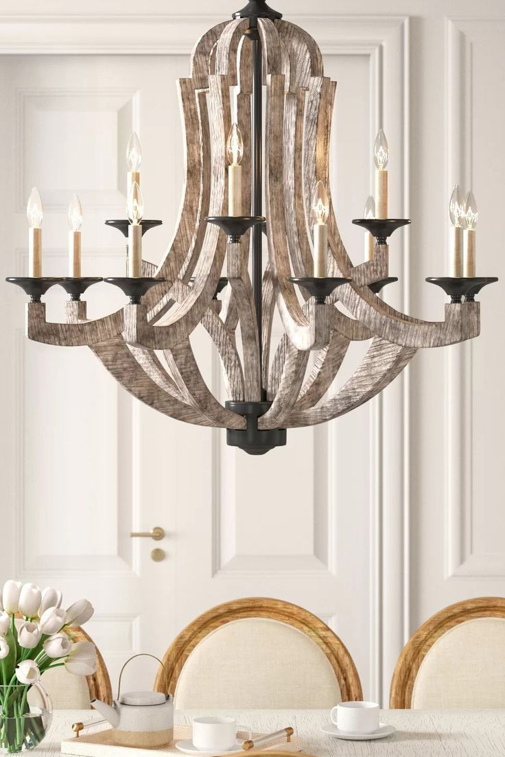 Empire Chandelier Marcoux 12 Light Farmhouse Style Lighting Rustic Chandelier Chandelier In Living Room Empire Chandelier