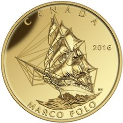 2016 $200 pure gold coin - tall ships legacy: Marco Polo.