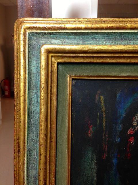Obra pictòrica George Rouault detall restaurat, procedència Museu de Montserrat