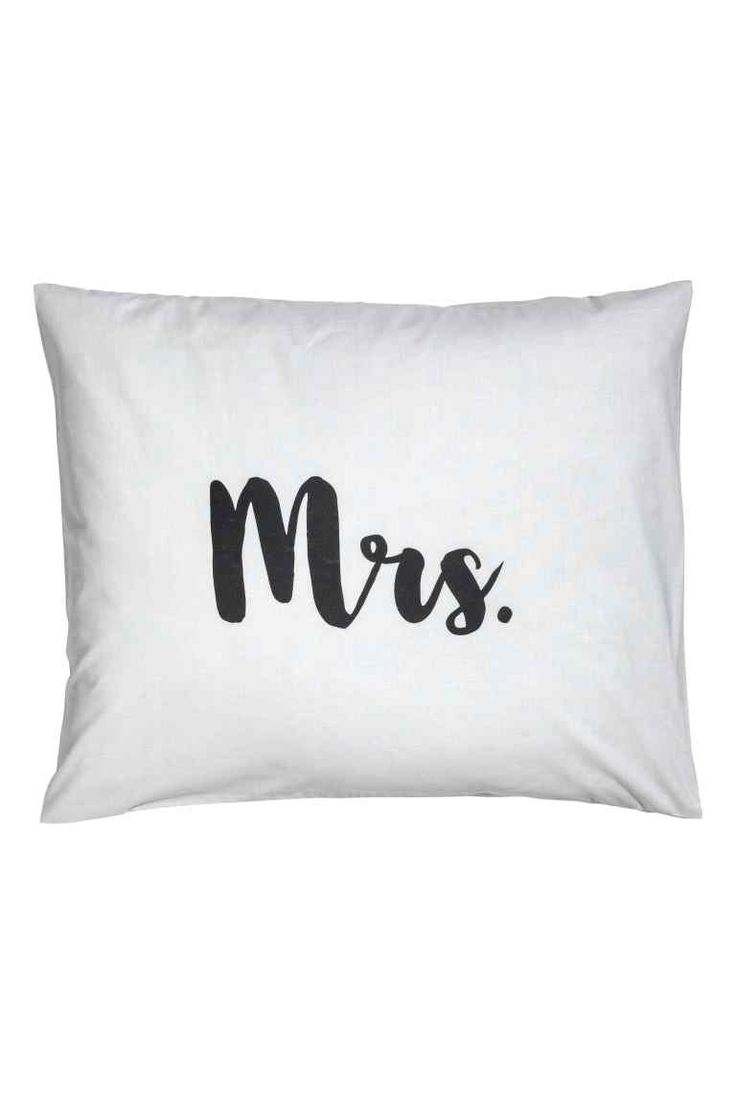 Taie d'oreiller - Gris clair/Mrs - Home All | H&M FR 1
