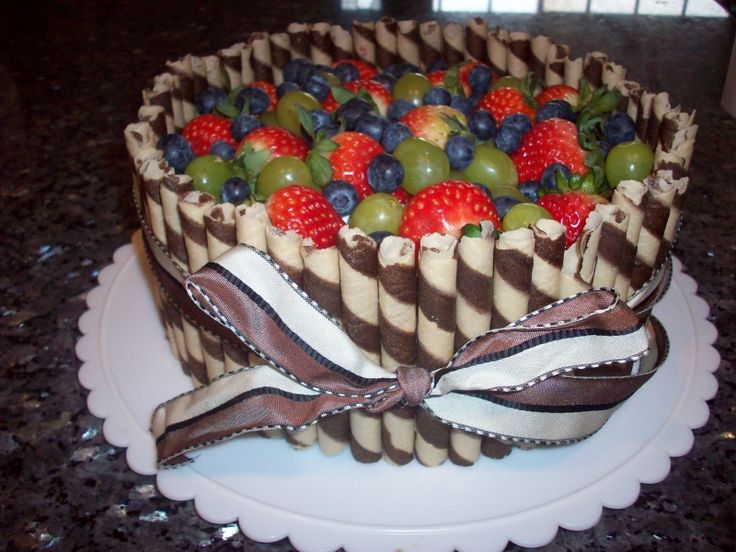 """I think I'll make this for my daughters birthday. She said she wanted a """"cake made of fruit"""" There you go Izzabee.<3 You. Only I will add more tropical fruits just for you."""