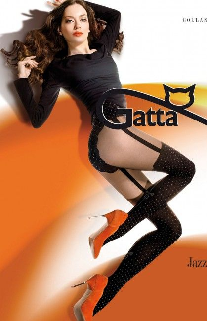 Rajstopy Gatta Jazz 02 - rajstopy imitujące pończochy