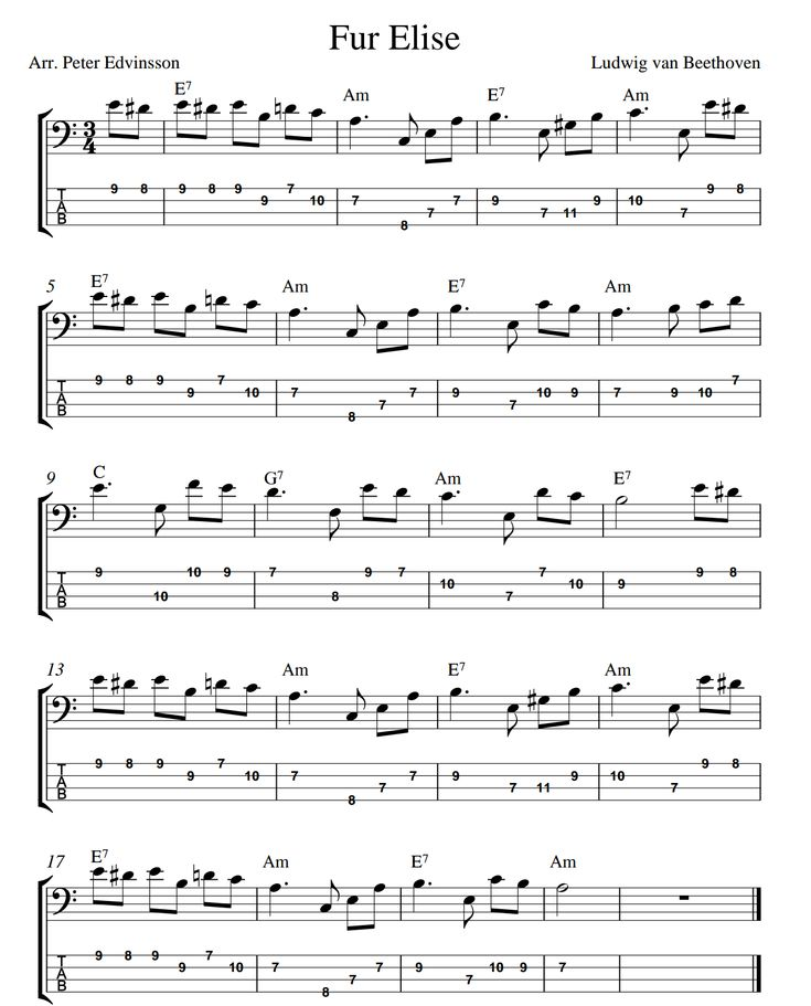 25+ Best Ideas About Fur Elise Sheet Music On Pinterest