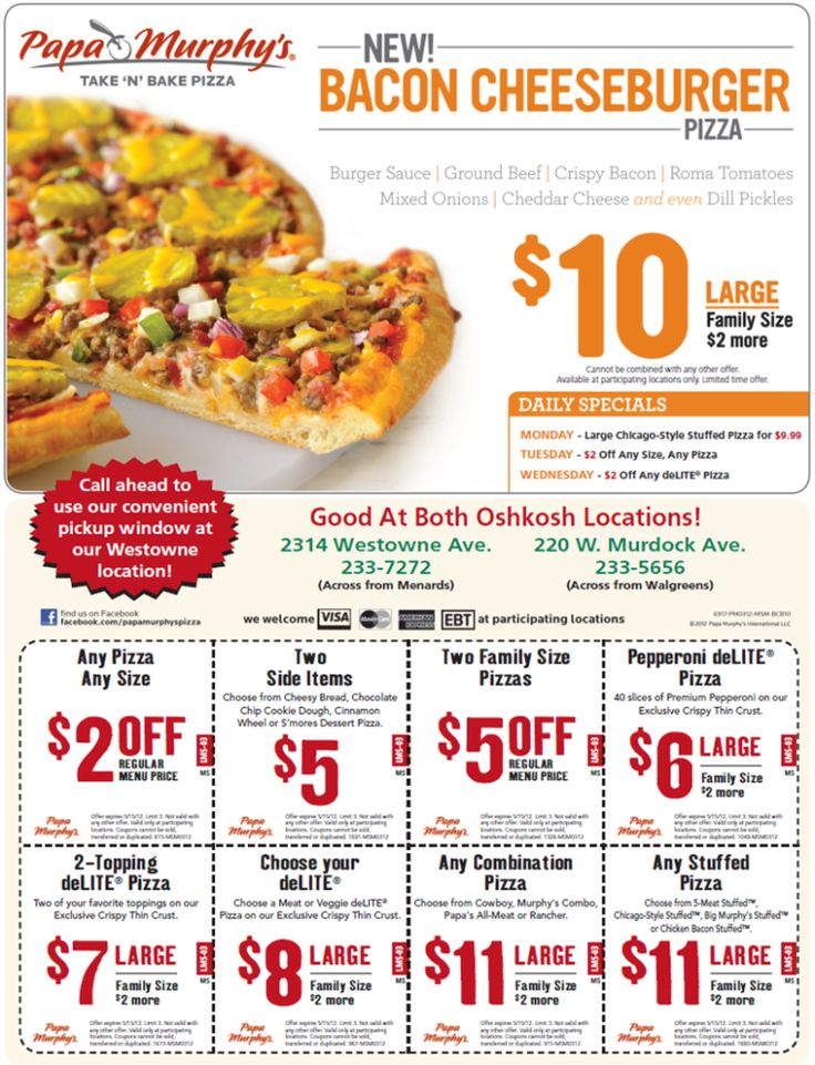Restaurant discount coupons