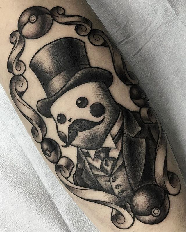 Gentleman Pikachu tattoo done by @he_draws.  To submit your work use the tag #gamerink  And don't forget to share our page too!    #tattoo #tattoos #tatuaje #tatuajes #ink #videogametattoo #gamertattoo #gamerink #videogames #gamer #gaming #nintendo #gameboy #gameboycolor #nds #3ds #nintendo3ds #pikachu #pokemon #pikachutattoo #gameboytattoo #pokemontattoo #nintendotattoo #animetattoo #otakutattoo