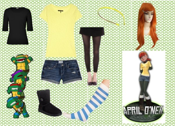 """April O'Neil 2013"" by larajk on Polyvore, Since I cant find the old time April with yellow jumpsuit....the new April will have to do"