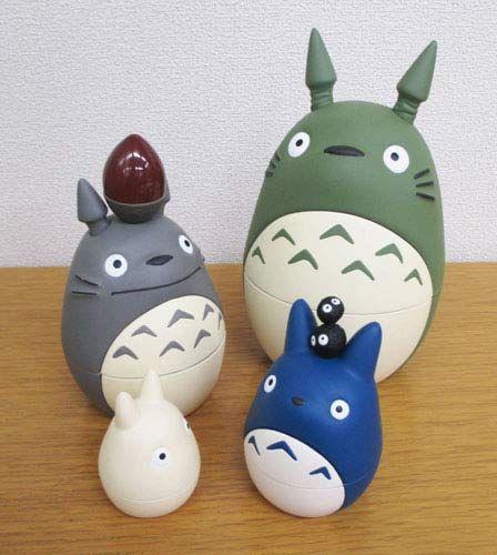My Neighbor Totoro Matryoshka $48.00 http://thingsfromjapan.net/my-neighbor-totoro-matryoshka/ #totoro #Japanese anime #kawaii