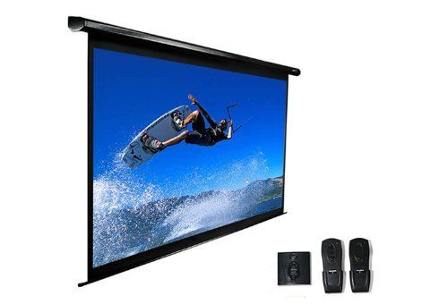 Elite Screens VMAX135UWV2 VMAX2 Electric Projection Screen (135-Inch 4:3 AR) by Elite Screens. $399.50. From the Manufacturer                 In the past, Elite Screens' VMAX electric projector screen has been one of the most affordable ways for anyone to bring a quality retractable electric screen into their office presentation or home theater room. It comes out of the box fully assembled, ready to plug and play, has black masking borders, adjustable drop/rise po...