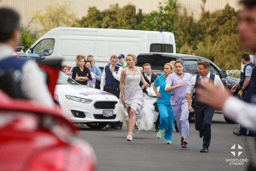 A shot of the returning episode of Shortland Street. Who will they find inside?