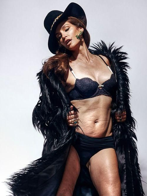 Why Cindy Crawford's Unretouched Lingerie Photo is Causing Shockwaves I personally add...great. This really helps me feel like maybe there's not as much to fix on myself as I originally thought! Should make us all stop and really look at ourselves and reexamine the reality.