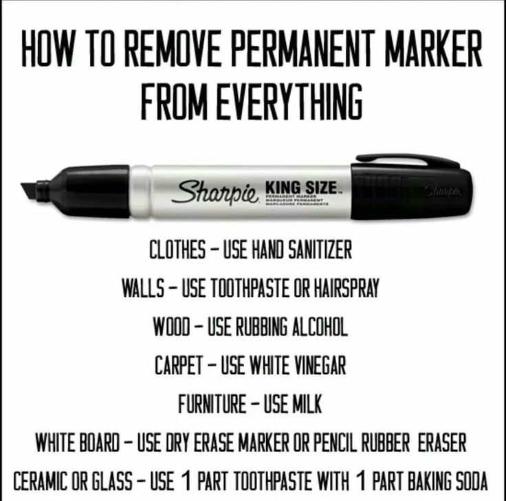 removing sharpie marker from everything