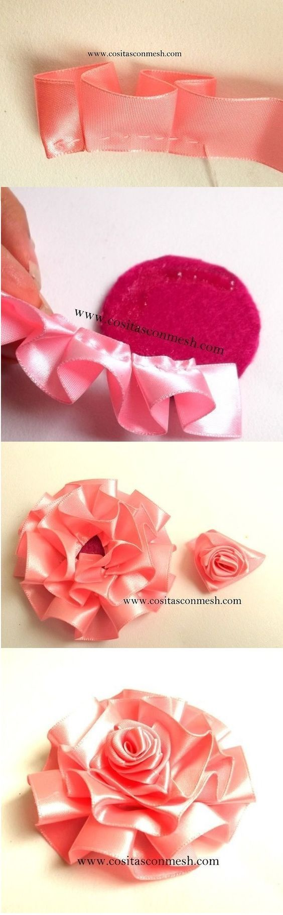 Ribbon Ruffle Flower