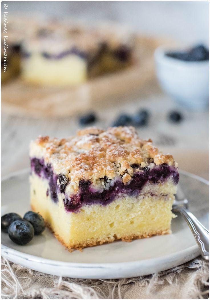 Blaubeer-Buttermilch-Kuchen mit Streuseln