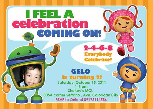 "Photo 1 of 41: Team Umizoomi / Birthday ""Gelo's Umizoomi 2nd Birthday Party"" 