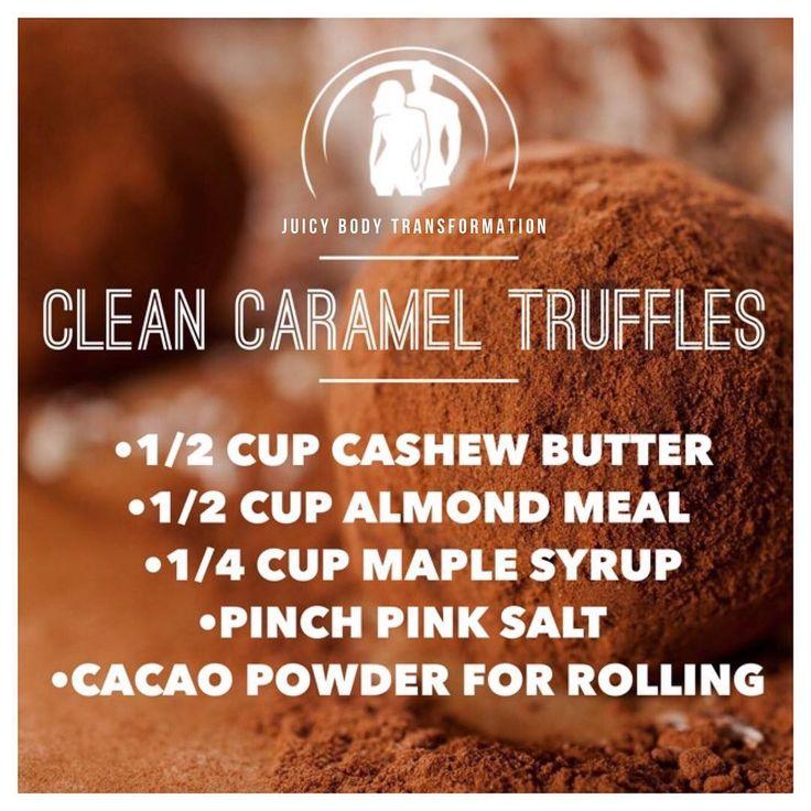 CLEAN Salted caramel truffles!