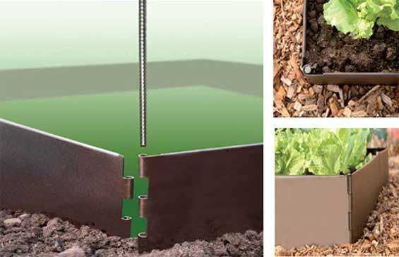 The EverEdge EasyBed. Raised garden beds couldn't get any easier. Line the hinged ends together and secure with a pin and you're done!