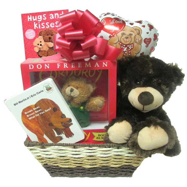 """Baby Gift Basket A """"Beary"""" Special Delivery with Teddy Bear and Books comes Wrapped and Ready to Give"""