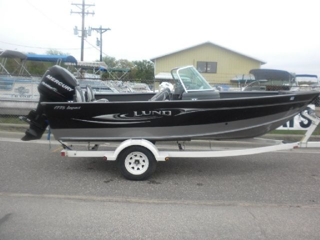 17 feet 2011 lund impact 1775 freshwater fishing black for Fishing boats for sale mn