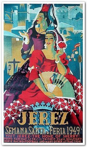 Cartel anunciador de la Feria de Jerez de la Frontera de 1949