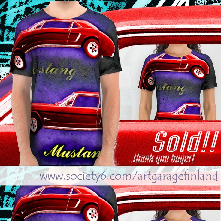 Sold!!! 😄 ..thanks to the recent buyer of this 'Mustang' all-over print t-shirt from my Society6 webshop. #sold #usa🇺🇸 #society6 #car #cars #thankyou #redcar #musclecar #tshirt #alloverprint #instadesign #instacar #instacars #fordmustang #mustang #carart #art #design #artist #sold #americana #retro #motorcar #motors #instaford #startyourengines #topgear #americanmuscle #mustanglove #shareyoursociety6 #vroomvroom #drive