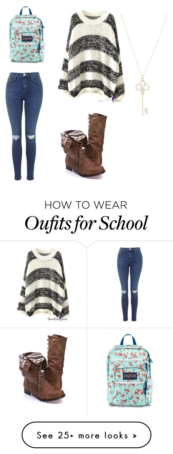 """Great school outfit"" by neilah-patricia-shapiro on Polyvore featuring JanSport and Aéropostale"