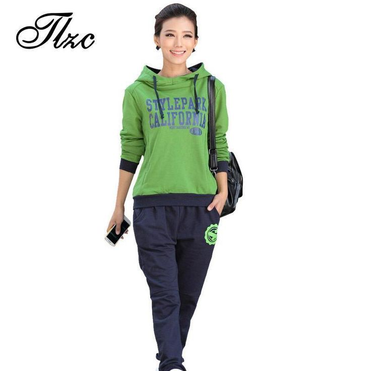 TLZC Letter Printed 2017 Women Casual Suit Large Size L-4XL Lady Hooded Tops + Loose Pants Set Lady Clothing Tracksuits  #beauty #shopping #ootd #instalike #stylish #sweet #beautiful #style #swag #cute