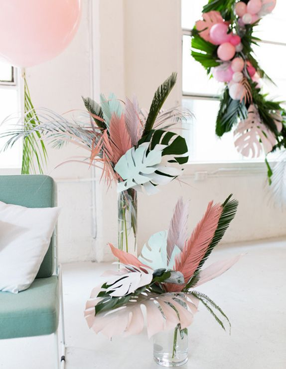 diy | paper leaves + feathers