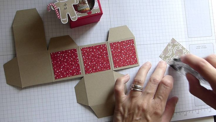 Yankee Candle Box using Stampin' Up! Candy Cane Lane DSP