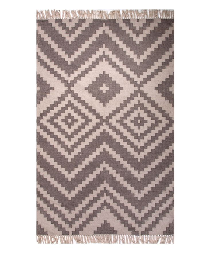 Taupe & Ivory Southwestern Indoor/Outdoor Rug
