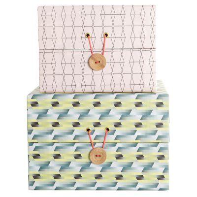 Creative Play box från House Doctor. Två kvadratiska lådor i olika storlekar med fint...