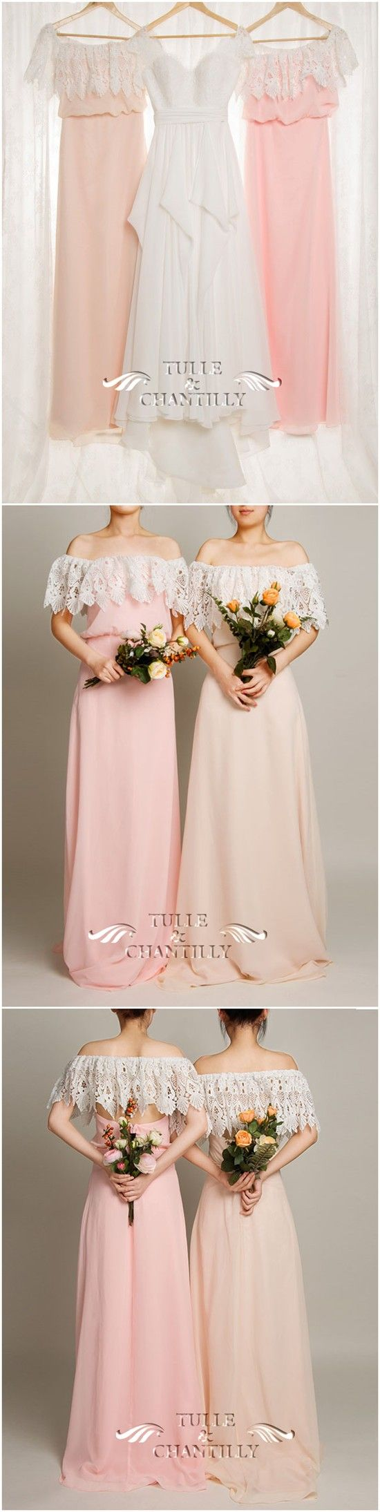 PASTEL WEDDING IDEAS - Bohemian 3 in 1 Dusty Pink Lace Covered Backless Bridesmaid Dress