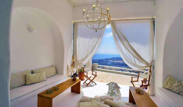 With commanding views over Super Paradise and Elia beaches and only 9 minute drive from Chora (the capital town of the island of Mykonos), this castle like built property seems like coming out of a fairy tale.